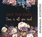 beautiful save the date card in ...   Shutterstock .eps vector #621265562