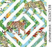 pattern beach vector animal... | Shutterstock .eps vector #621267158