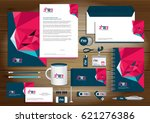 vector abstract stationery... | Shutterstock .eps vector #621276386