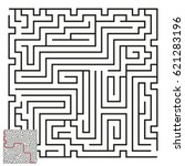 vector maze with answer 56 | Shutterstock .eps vector #621283196