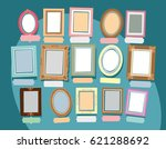painted different frames on a... | Shutterstock .eps vector #621288692
