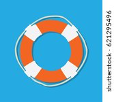 lifeboat float icon  vector... | Shutterstock .eps vector #621295496