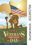 a poster of the veterans of the ... | Shutterstock .eps vector #621301706