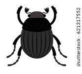 scarab beetle   original... | Shutterstock .eps vector #621317552