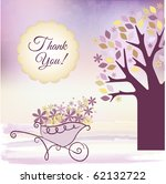 thank you card | Shutterstock .eps vector #62132722