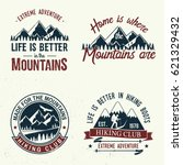 set of extreme adventure badges.... | Shutterstock .eps vector #621329432