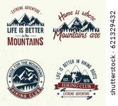 set of extreme adventure badges.... | Shutterstock .eps vector #621329432