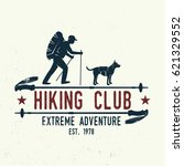 hiking club extreme adventure.... | Shutterstock .eps vector #621329552