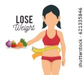 lose weight concept icons | Shutterstock .eps vector #621335846