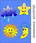 sun  moon  star and cloud   Shutterstock . vector #62133769