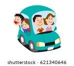 family car | Shutterstock . vector #621340646