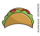 delicious mexican tacos food | Shutterstock .eps vector #621346232