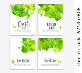 happy earth day poster or... | Shutterstock .eps vector #621357608