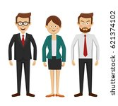 group of business people... | Shutterstock .eps vector #621374102