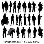 dalia flowers silhouette  vector | Shutterstock .eps vector #621375842