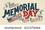 happy memorial day. home of the ... | Shutterstock .eps vector #621376466