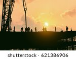 construction worker working on... | Shutterstock . vector #621386906