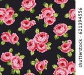 rose illustration pattern | Shutterstock .eps vector #621394556