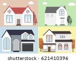 vector flat icon suburban... | Shutterstock .eps vector #621410396