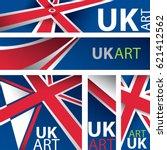 abstract uk flag  united... | Shutterstock .eps vector #621412562