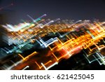 colorful abstract glowing twirl ... | Shutterstock . vector #621425045