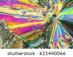 colorful micro crystals of... | Shutterstock . vector #621440066