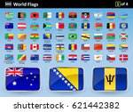 flag icons of the world with... | Shutterstock .eps vector #621442382