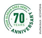 70 years anniversary logo...   Shutterstock .eps vector #621445646