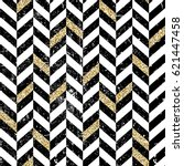 gold and black chevron pattern. ... | Shutterstock .eps vector #621447458