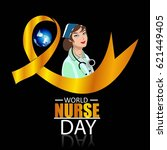 illustration of nurse day on... | Shutterstock .eps vector #621449405