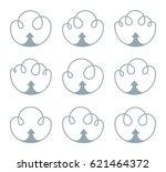 clouds inward arrows simple... | Shutterstock .eps vector #621464372