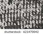 pieces of cloth with silver... | Shutterstock . vector #621470042