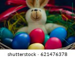 easter eggs and bunny | Shutterstock . vector #621476378