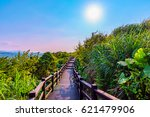tranquil mountain path with... | Shutterstock . vector #621479906