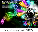 alternative discoteque music... | Shutterstock .eps vector #62148127