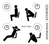 waiting for something vector... | Shutterstock .eps vector #621485822