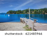 the water of shallow lake... | Shutterstock . vector #621485966