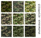 camouflage pattern background... | Shutterstock .eps vector #621490115