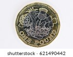 new uk twelve sided pound coin... | Shutterstock . vector #621490442