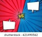 comic book versus fight intro... | Shutterstock .eps vector #621490562
