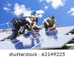 workers installing alternative... | Shutterstock . vector #62149225