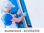 window replacement installation ... | Shutterstock . vector #621502232
