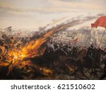 death with catapult fire in... | Shutterstock . vector #621510602