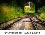crossing train tracks. two...