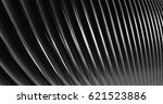3d abstract metallic reflection.... | Shutterstock . vector #621523886