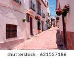 street. beautiful spanish house.... | Shutterstock . vector #621527186