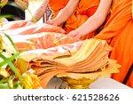 monks requiem for the funeral...   Shutterstock . vector #621528626