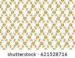 raster rose flowers seamless... | Shutterstock . vector #621528716