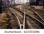 Detail Of Railroad Tracks In...