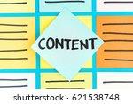 content paper note handwriting... | Shutterstock . vector #621538748